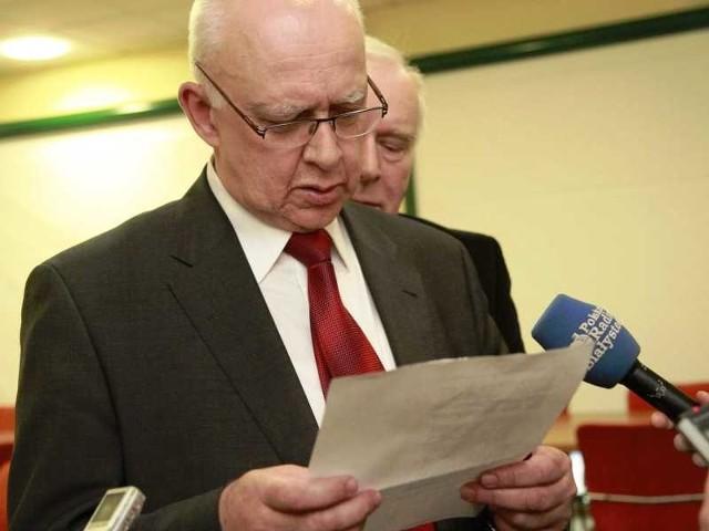 Marszałek Jarosław Dworzański wypowie się dzisiaj na temat prokuratorski zarzutów, które usłyszał we wtorek w Olsztynie