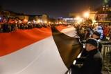 """""""Światełko dla Prezydenta"""". W środę 13.02.2019 r., miesiąc po zamachu na Pawła Adamowicza, uroczystość na Targu Węglowym. Koniec żałoby"""