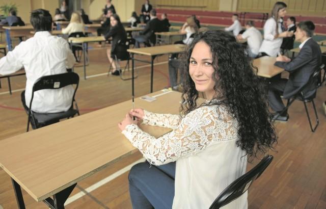 Jowita Rutkowska, uczennica białostockiego PG 2, dzisiaj rano nieco się stresowała rozpoczynającymi się egzaminami, ale na koniec dnia była zadowolona. - Nie było tak trudno - mówi.