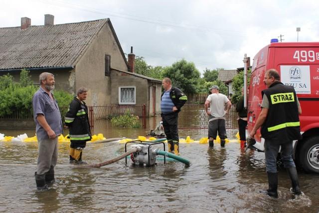 Tak wyglądało gospodarstwo państwa Piątków w czasie czerwcowej powodzi