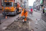 Katowice: na Stawowej testują płytki dla przyszłego placu Dworcowego ZDJĘCIA, WIZUALIZACJE