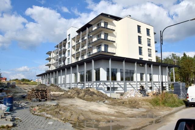 Tak wygląda budowa nowego sanatorium przy ulicy Uzdrowiskowej.