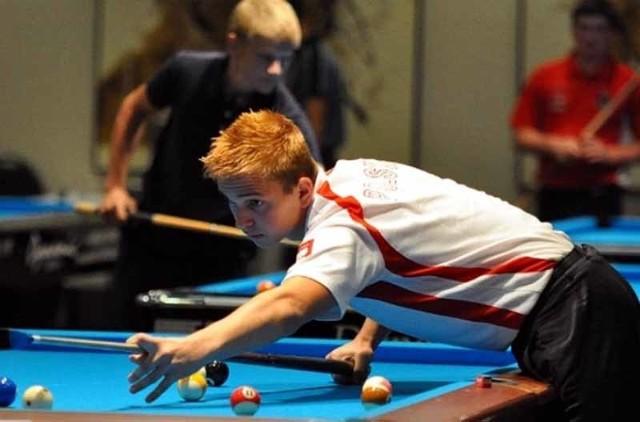 Konrad Piekarski - sokółczanin podczas meczu na mistrzostwach Europy juniorów