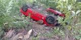 Wypadek w Czechowie koło Gorzowa Wlkp. Dachował seat. Trzy osoby zostały ranne. Jechali na festiwal do Kostrzyna
