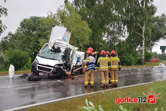 Wypadek w Łuznej wyglądał dramatycznie