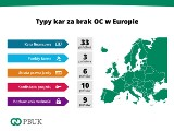 Kara za brak OC. Typy kar za brak OC w Europie. Można m.in. trafić do więzienia lub stracić prawo jazdy
