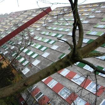 Berlinga 40 - wielki dzięsięciopiętrowy i dziesięcioklatkowy blok. Od pewnego czasu grupa młodych ludzi nie daje spokojnie żyć mieszkańcom. W desperacji napisali do naszej redakcji list z prośbą o pomoc.