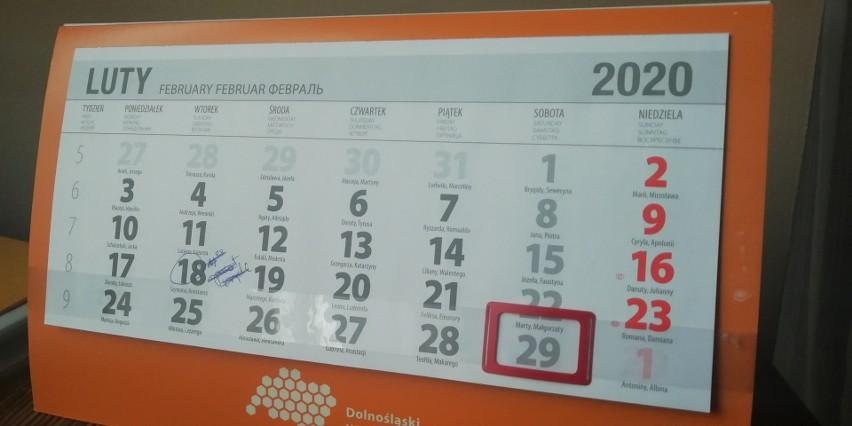 kalendarz, 2020 rok, 29 lutego.