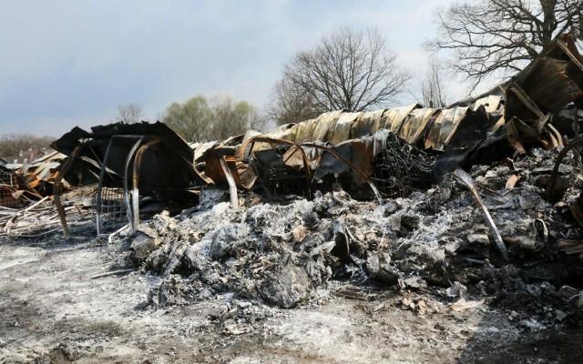 Wilczyce, teren po pożarze
