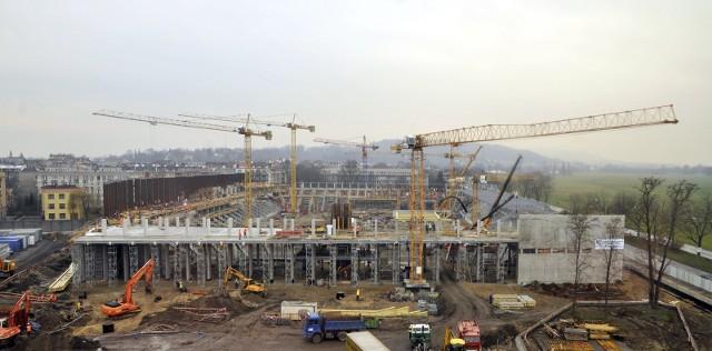 Stadion Cracovii wybudowano w nieco ponad rok