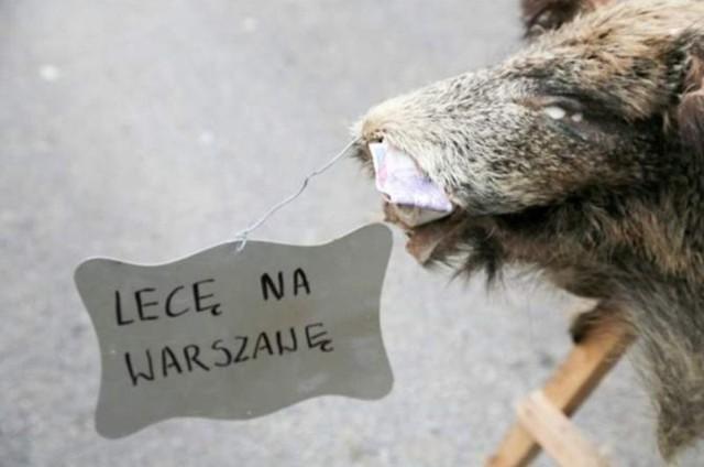 Rolnicy zablokowali drogę relacji Białystok - Grajewo w Knyszynie