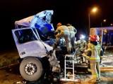 Tragiczny wypadek! Koło Końskich zderzyły się ciężarówki. Jeden kierowca nie żyje, drugi w ciężkim stanie [ZDJĘCIA]
