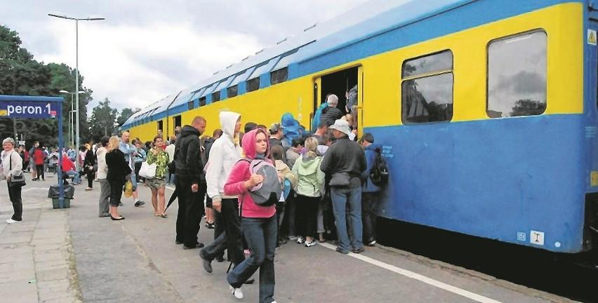 Przepełnione do granic możliwości pociągi to w wakacje na linii helskiej chleb powszedni