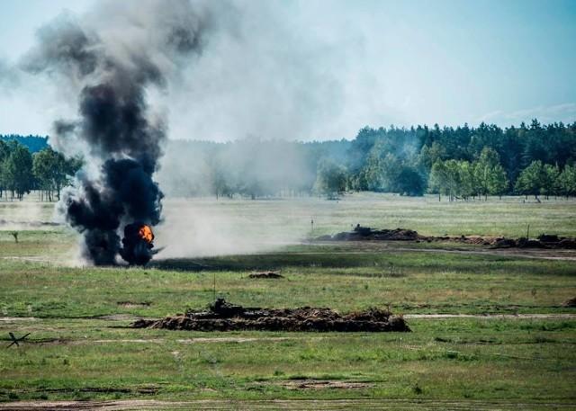 Żołnierze z międzyrzecko-wędrzyńskiej brygady odpierali ataki przeciwnika na obronnych rubieżach poligonu w Orzyszu