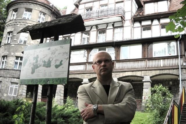 Jacek Górski, dyrektor szkoły przy prewentorium Aleksandrówka: - Z tego ośrodka można jeszcze zrobić perełkę Opolszczyzny.