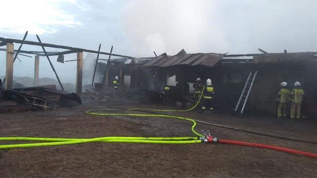 Pożar w miejscowości Zacisze