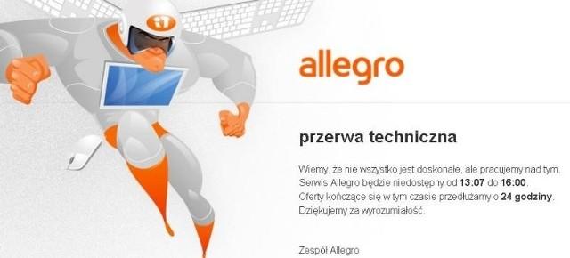 Awaria Allegro