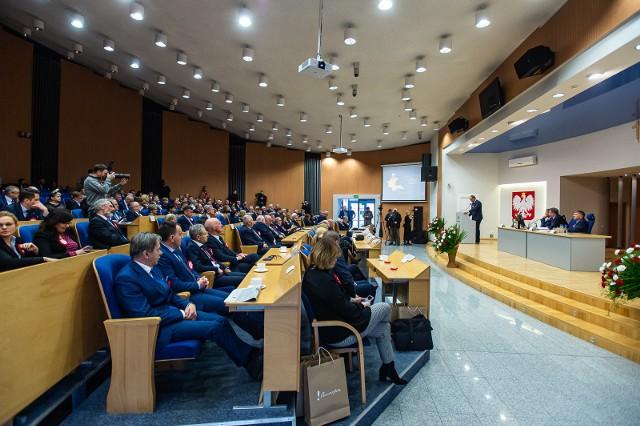 Uroczysta sesja Sejmiku Województwa Pomorskiego dla uczczenia 100-lecia powrotu Pomorza w granice Rzeczypospolitej i zaślubin Polski z Bałtykiem, 9 lutego 2020 r.