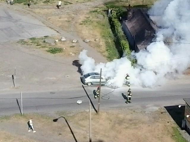 Strażacy na miejscu pojawili się bardzo szybko. Pożar był niegroźny i udało się go błyskawicznie ugasić