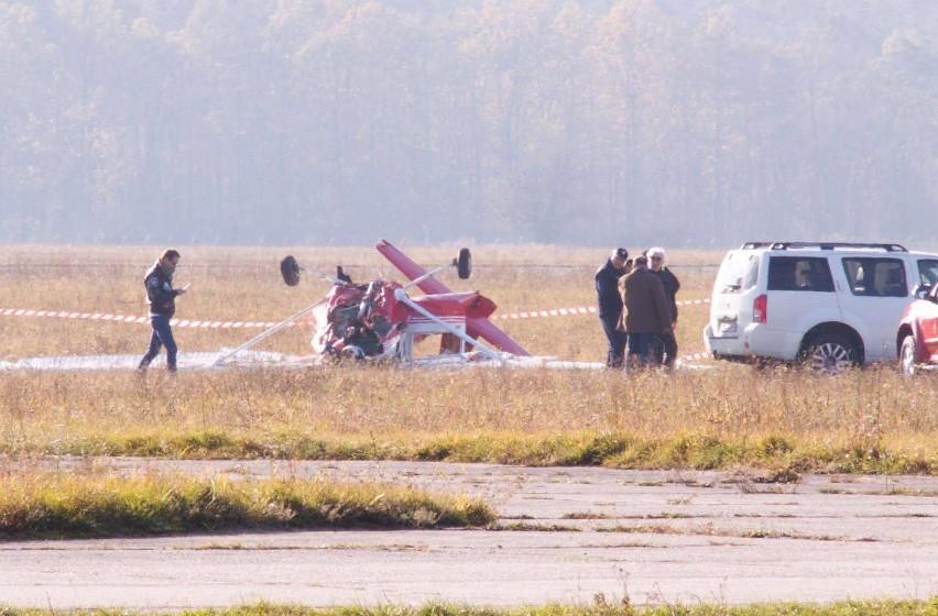 Do wypadku awionetki doszło podczas startu. Na pokładzie był...
