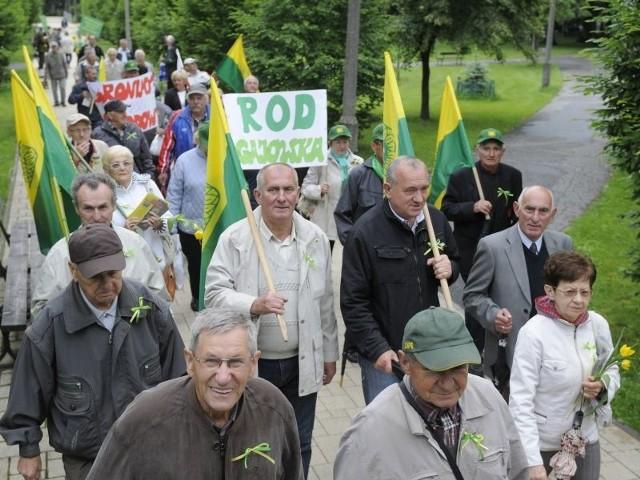 W czerwcu działkowcy protestowali w Bydgoszczy przeciwko likwidacji PZD