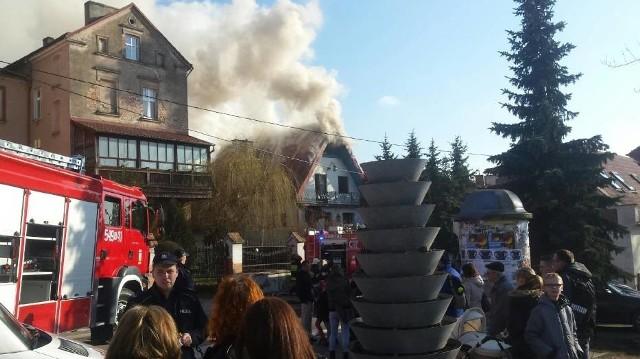 Pożar w Gniewie [16.03.2016]
