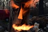 W Janikowie spłonęła rzeźba. Mamy zdjęcia i wideo