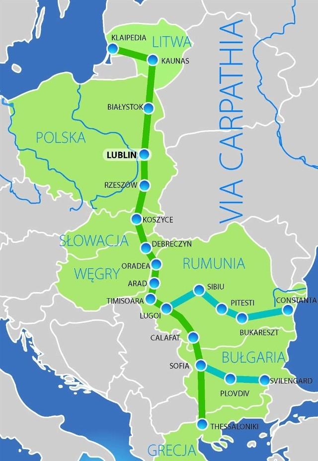 """Program """"Łącząc Europę"""" omija Lubelskie: Szansą dla nas jest Via Carpathia"""