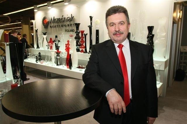 Największe stoisko spośród świętokrzyskich firm miał polski potentat w produkcji szkła artystycznego, Tadeusz Wrześniak