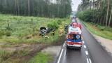 Dachowanie samochodu pod Opalenicą. Jedna osoba ranna
