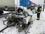 Wypadek na niestrzeżonym przejeździe kolejowym w Dobromierzu (powiat bydgoski)