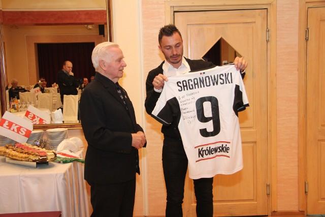 Marek Saganowski i jego pierwszy trener, nieżyjący już Czesław Kozłowski