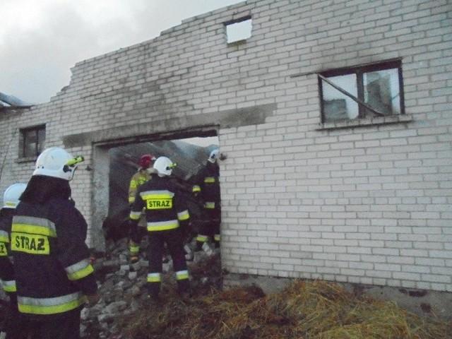 Na miejscu niedzielnej akcji strażaków