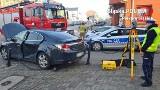 Piekary Śląskie: wypadek w centrum miasta. Zderzyły się dwa samochody. Obaj kierowcy w szpitalu