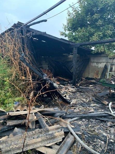 Pożar tartaku w Dąbrowie Wielkiej Kalinkach