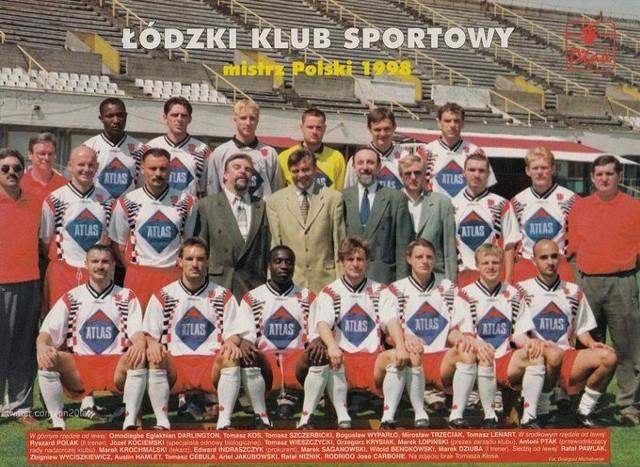Piłkarze ŁKS - mistrz Polski 1998