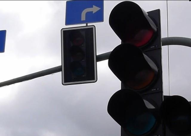 Ul. Wysockiego i al. Jana Pawła II w Białymstoku bez świateł