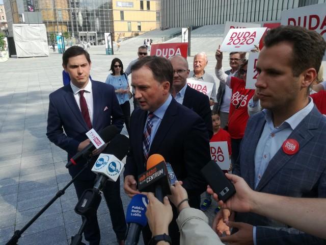 Konferencja ministra Zbigniewa Ziobry i posła Jana Kanthaka odbyła się w czwartek przed CSK