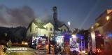 Pożar w Mostach w powiecie puckim. Zapaliło się poddasze domu jednorodzinnego [zdjęcia]