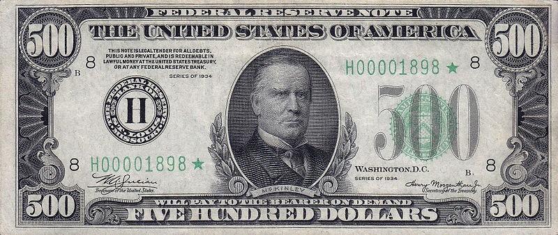 Banknoty dolarowe zaczęto drukować w XIX w. Kolor zielony nadano im, by uchronić je przed fałszerstwami techniką fotograficzną