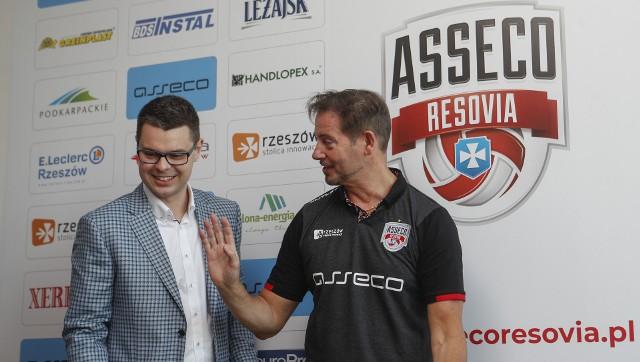 Prezes Piotr Maciąg i trener Alberto Giuliani bardzo dobrze się rozumieją