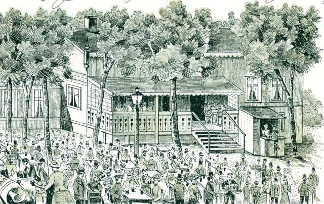 Tivoli z końca XIX w., fragment pocztówki, 1899 r.