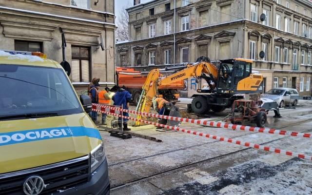 Do najpoważniejszej w tym roku awarii doszło na ul. Franciszkańskiej przy Wolborskiej.