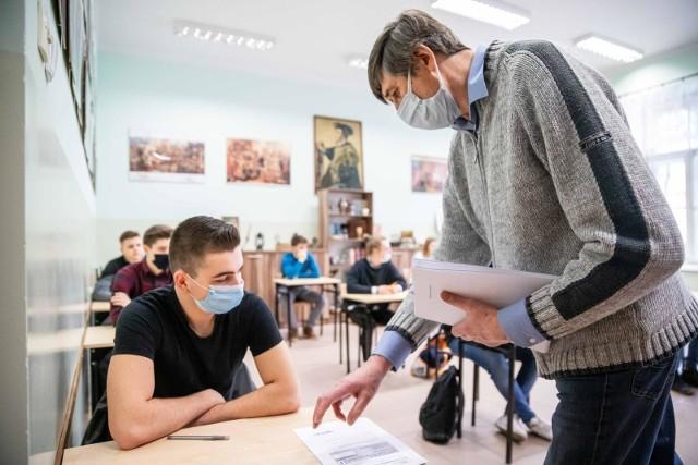 Matura próbna w VI LO w Białymstoku