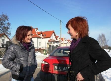 Diana i Aneta też chcą, żeby na ulicy Bacieczki były latarnie.