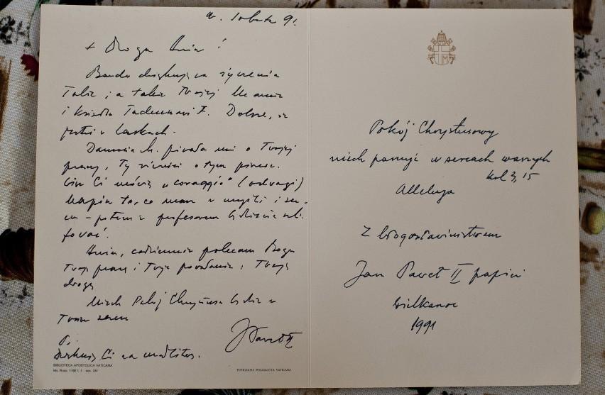 Jan Paweł II, póki był zdrowy, pisał listy własnoręcznie