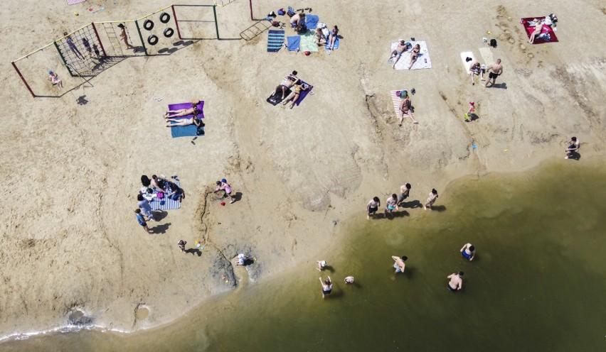 Rzeszowska żwirownia z perspektywy drona