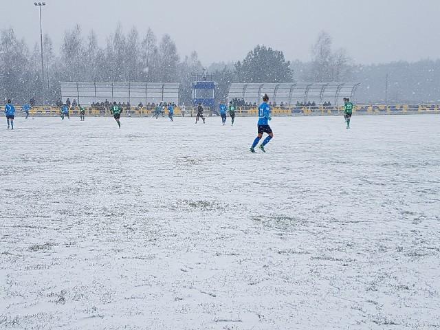 Derbom Lubelszczyzny towarzyszyła iście zimowa atmosfera