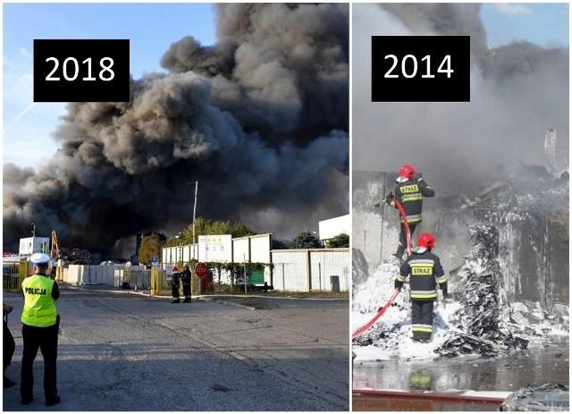 Pożar przy ul. Pomorskiej w Szczecinie. W 2014 również wybuchł tam pożar.