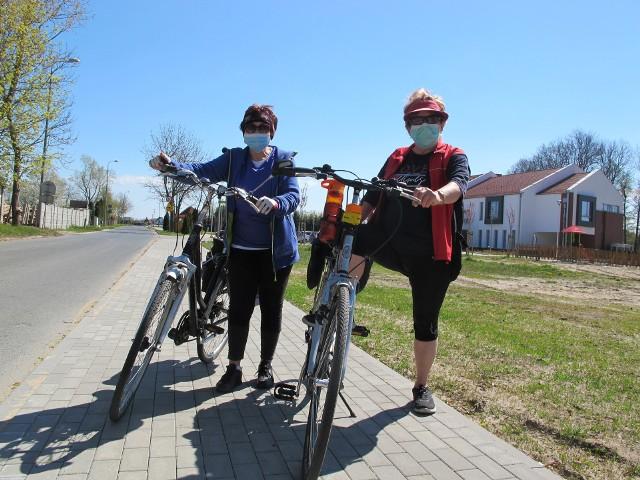 Panie Genowefa i Alicja z Gorzowa cieszą się, że wkrótce będą kolejne ścieżki rowerowe z Kłodawy